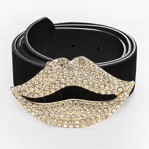 White Diamond Kiss Waist Belt
