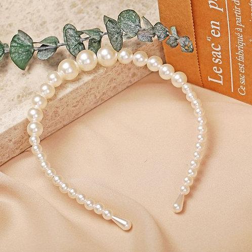 Retro Fashion Pearls Headband B