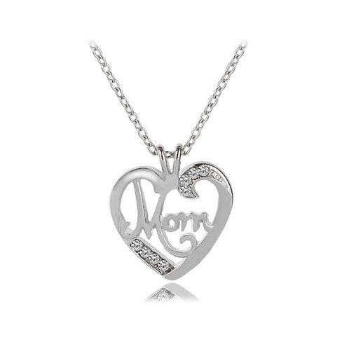 Mom Love Diamond Pendant Necklace
