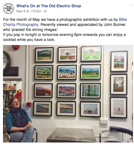 My first photographic exhibition!
