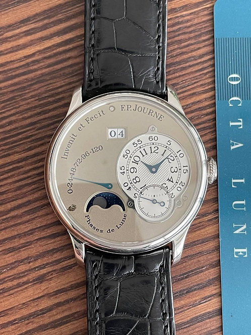 F.P.Journe Octa Lune Platinum 38mm Brass with papers