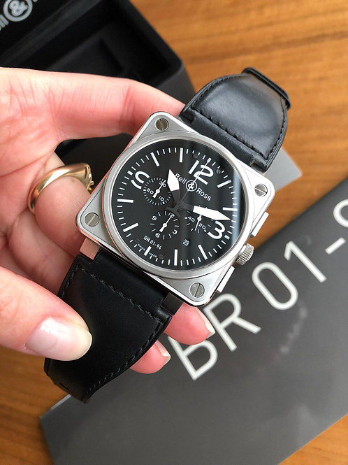 Bell & Ross  Ref BR0194-BL-ST full set
