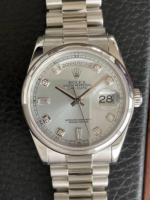 Rolex  Ref 118206 Platinum