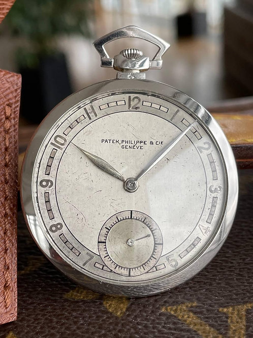 Patek Philippe Pocket Watch Vintage White Gold