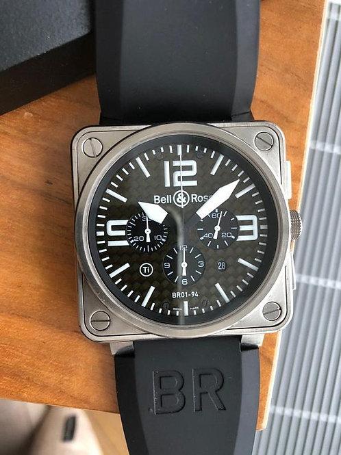 Bell & Ross Ref BR0194-BL-ST full set