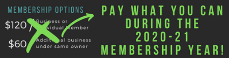 Pay What You Can Membership 20-21 Image.