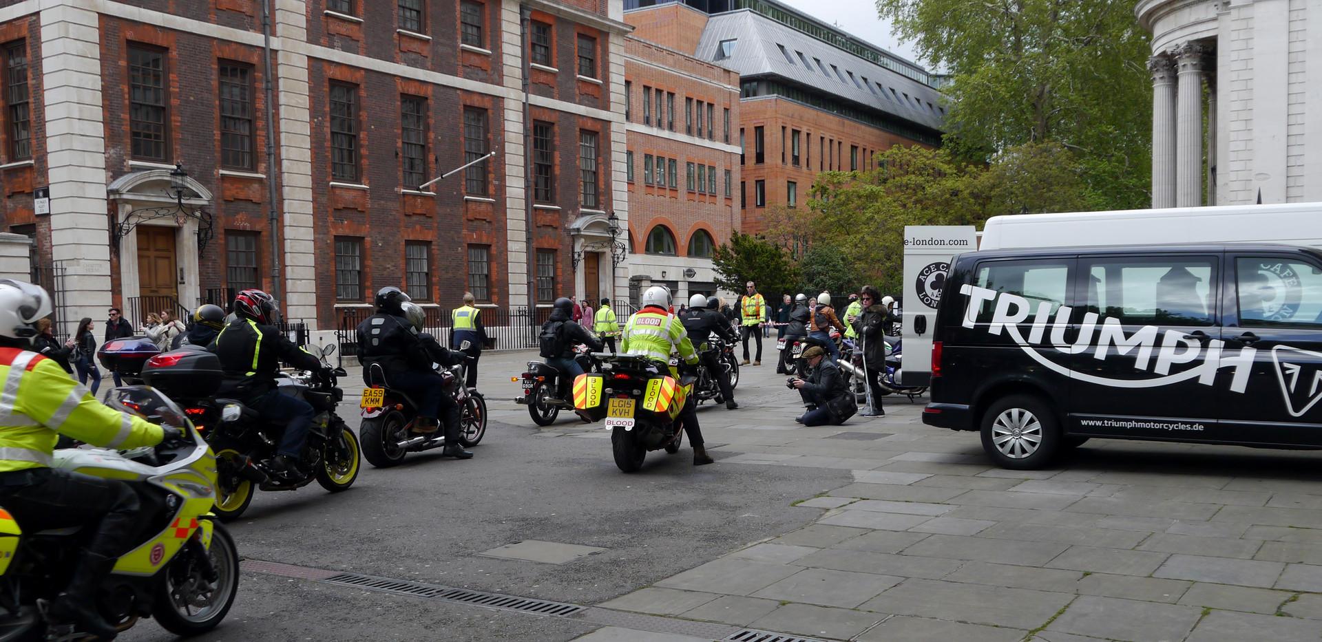 Bikes arrive at St Pauls