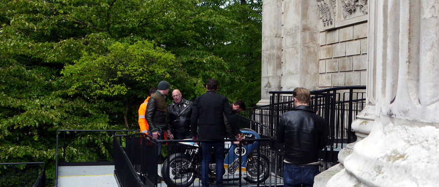 Triumph enters St Pauls Cathedral