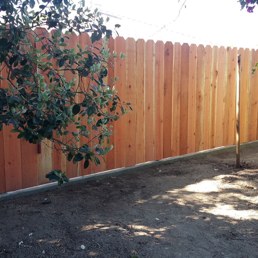 A well built fence makes for a very happy customer.