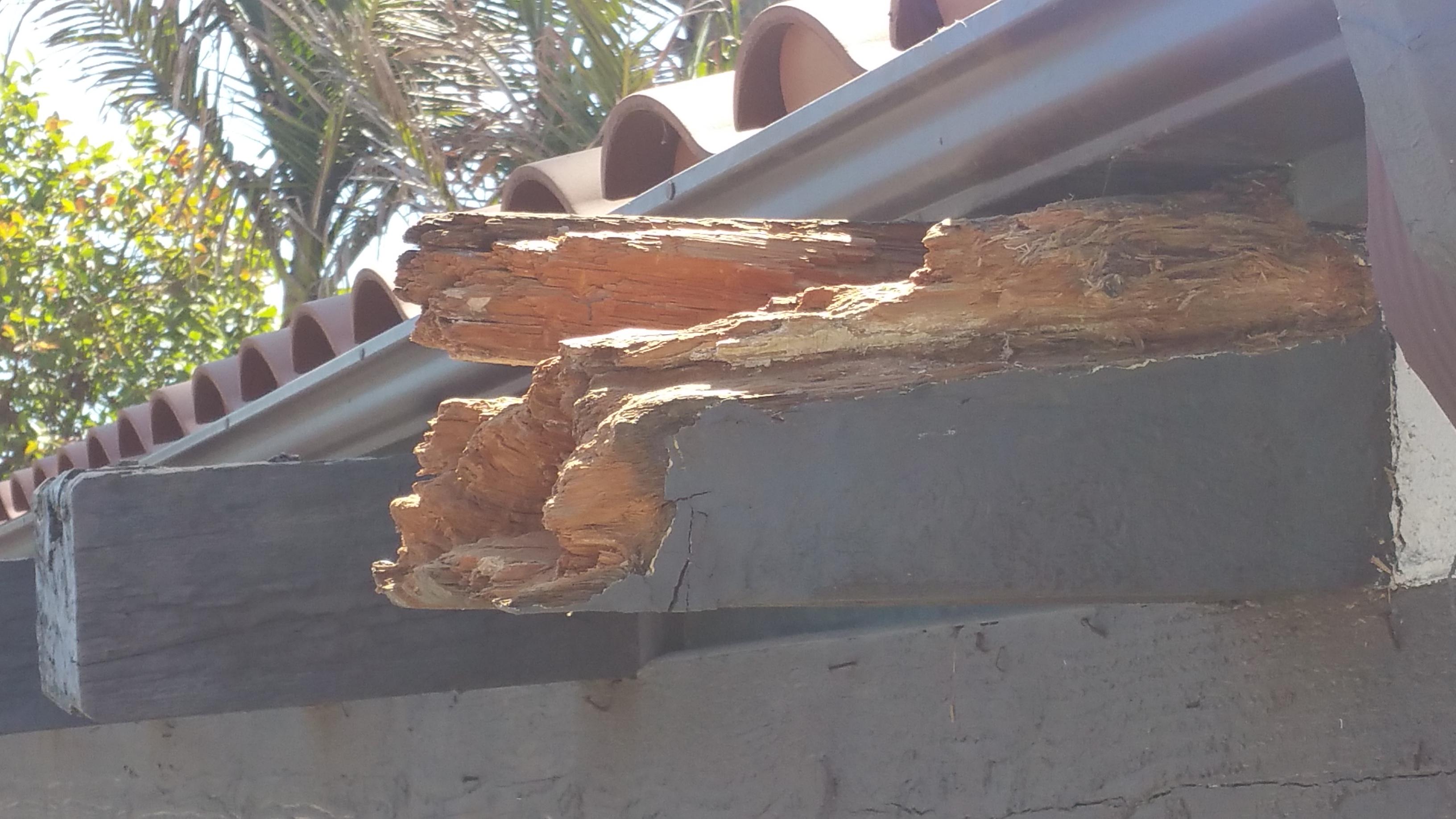 Damage close-up