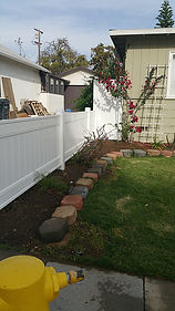 Front yard vinyl fencing from Lowes