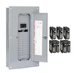 Appease Builders Co., Electrical panel and circuit breakers