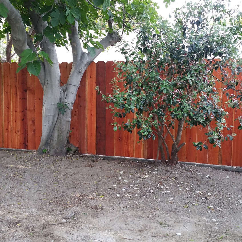 The finish of a forever fence. Well, maybe not forever, but a fence that will last a VERY long time.