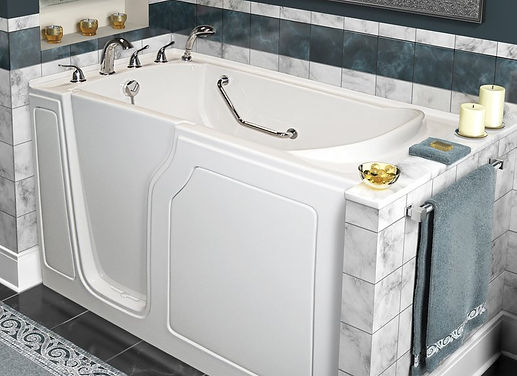 Walk-in tubs by Appease Builders Co. Long Beach, CA.