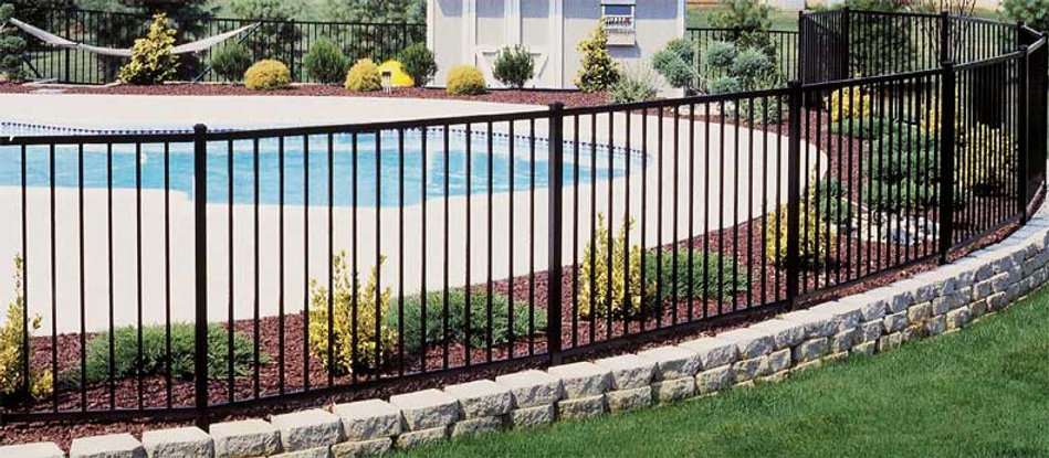 This is an Aluminum fencing option for your pool