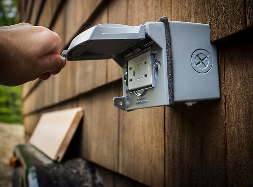 Exterior outlets and electrical  projects by Appease Builders, Long Beach, CA