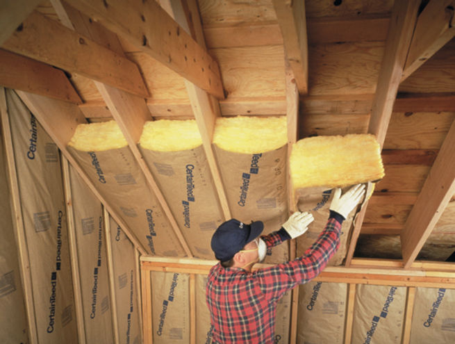 Placement of Insulation by Appease Builders