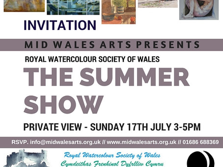 Royal Watercolour Society of Wales at Mid Wales Art Centre