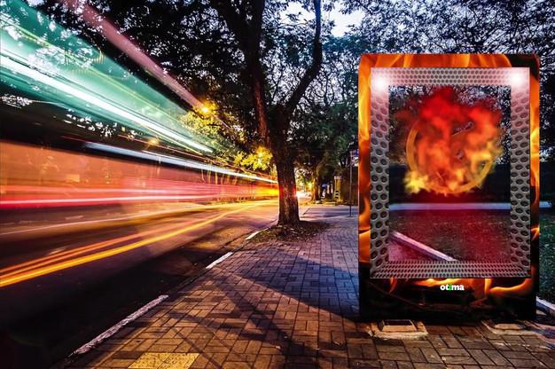 Abrigo com simulação de holografia para Jogos Vorazes