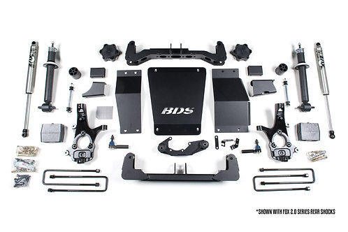 "6"" BDS Lift Kit 2014-18 Chevy/GMC 1500 4WD w/o Magnaride"
