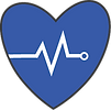 icon of heart with monitor