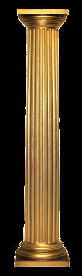 Bronzed column