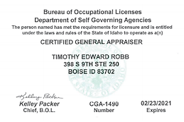 Tim Robb, MAI CGA-1490 Expires 2.23.2021