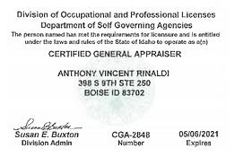 Tony Rinaldi, MAI - CGA-2848 Expires 5.6