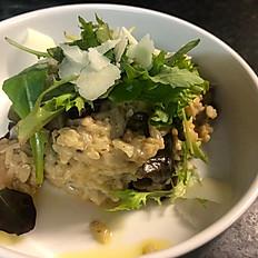 vegetarische risotto met boschampignons