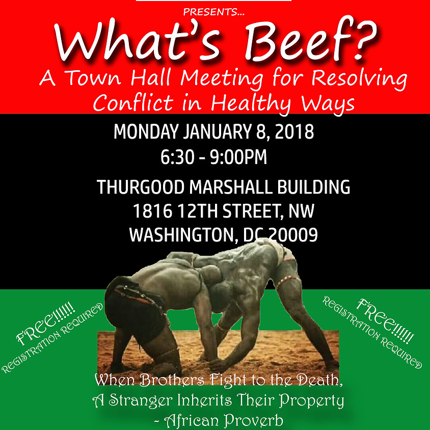 What's Beef: Conflict Resolution