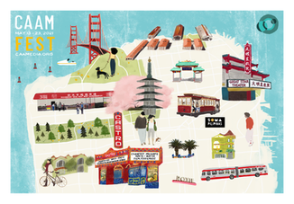 San Francisco Asian Community & Theatre Map