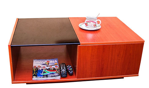 Bolly Coffee table is designed for elite with substantial quest for creativity and high quality finish. A statement of class in your living room and office reception. The 1000X600X370mmH coffee table is made of laminated plywood. Available in cherry, white, redrose and bleach oak laminate.