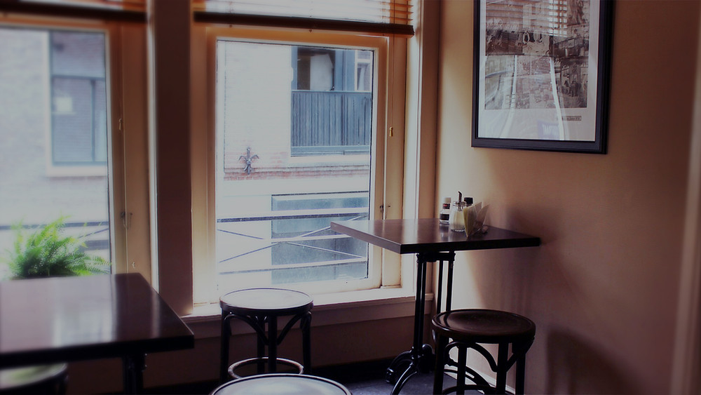 stool in a cafe