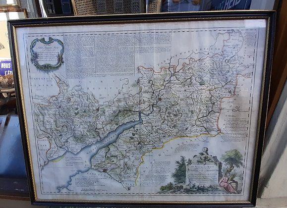18th Century Map of Gloucestershire & Monmouth