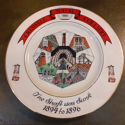Creswell Colliery Commemerative Plate 2