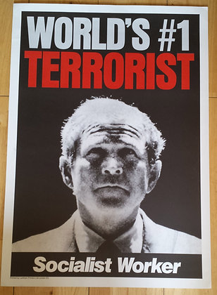 Stop The War Protest Original poster 2003 London March
