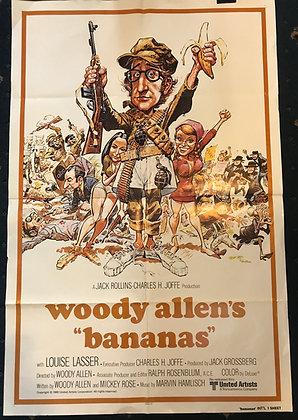 Original Film poster for Woody Allen's Bananas