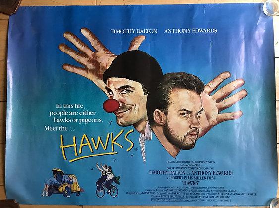 Original Hawks movie poster 1988