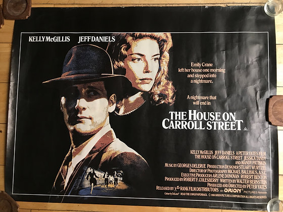 The House on Carroll Street 1988 Original Quad Poster