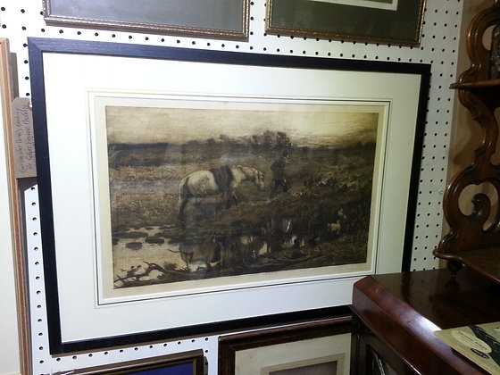 Robert Walker Macbeth Etching, Signed