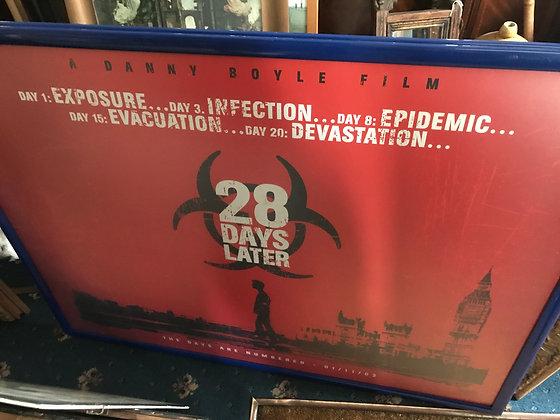 Original quad movie poster - 28 Days Later.