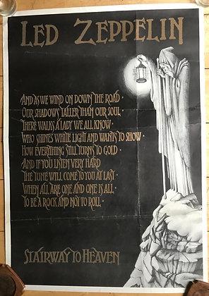 Led Zeppelin Stairway Poster