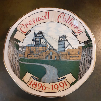 Creswell Colliery Commemerative Plate 1