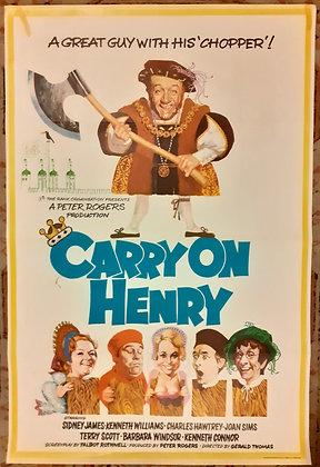 Carry On Henry UK 1-Sheet film poster 1971