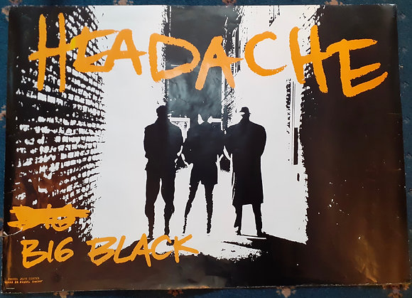 Original Big Black promo poster.