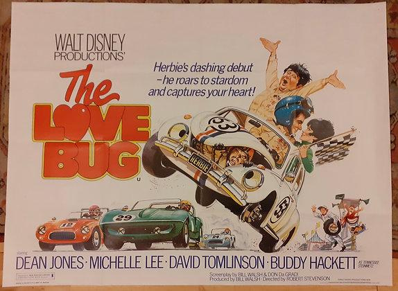 Herbie 'The Love Bug' UK Quad film poster 1979