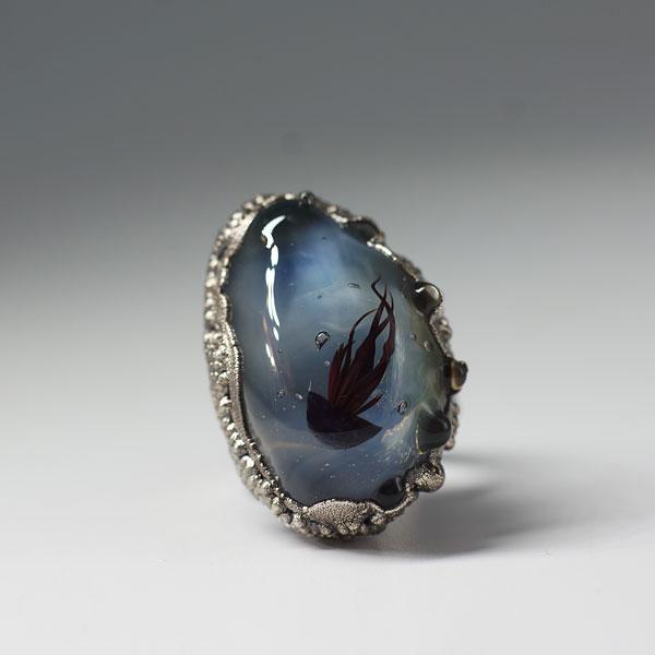 Кольцо с медузой