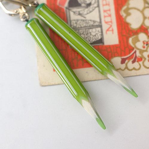 """Серьги """" Зеленые карандашики"""""""