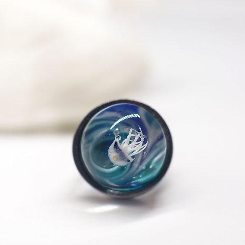"""Кольцо """" Светлая медузка"""""""