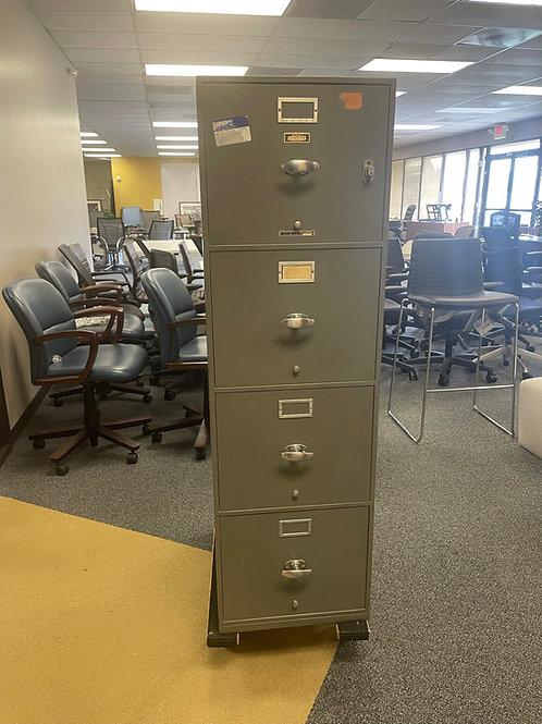 Vintage Meilink Built Hercules One Hour, Fireproof Safe File Cabinet, 4 drawer